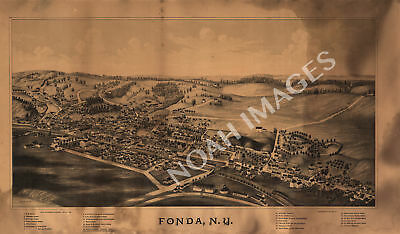 Map of Fonda New York c1889 24x16