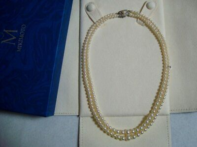 """Authentic  Vintage  """"Mikimoto"""" 2.2mm - 6.4mm  Akoya Pearl Necklace"""