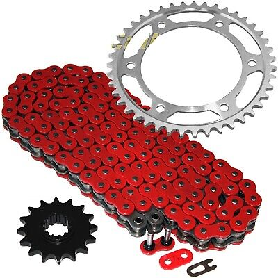 Red O Ring Drive Chain Sprockets Kit Fits Honda Cbr600rr 2003 2004