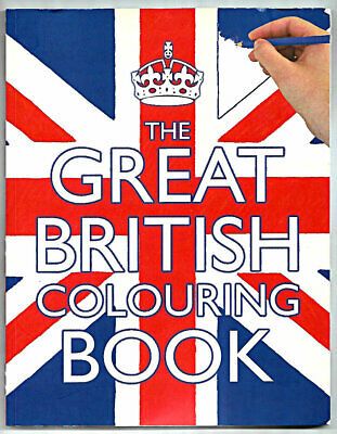 2012 The Great British Coloring Book Scholastic Made In Great Britain Never Used