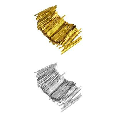 1600PCS Metallic Twist Ties Wire Dotted Bowknot for Cake Pop Candy Cello Bag