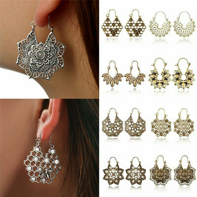 Fashion Statement Metal Geometric Women Boho Dangle Hook Earrings Modern Jewelry
