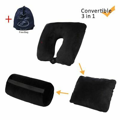 Multifunction Travel Pillow 3in1 Compact 360°Neck Support Pillow Home Car Flight