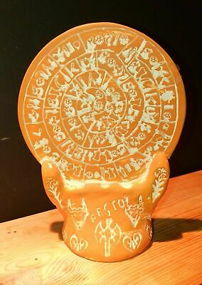 Phaistos Disc sculpture museum reproduction Ceramic - Palace of Knossos - Minoan