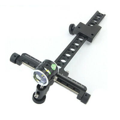 """Archery Compound Bow Sight 1Pin 0.059"""" Micro Adjust Long Pole Hunting Adjustable"""