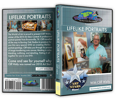 """Cliff Welty - Video Art Lessons """"Lifelike Portraits"""" DVD"""