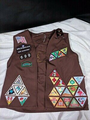 Girl Scouts USA Brownie Vest Patches Youth