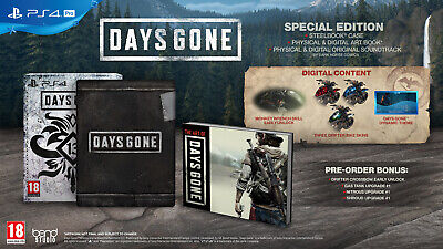 Days Gone Special Limited Edition + Dlc New Sealed English Sony Ps4 Steelbook