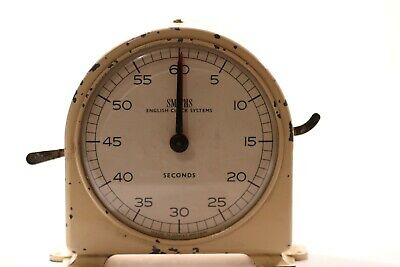 Vintage Smiths English Clock System (Minutes & Seconds Process Timer)
