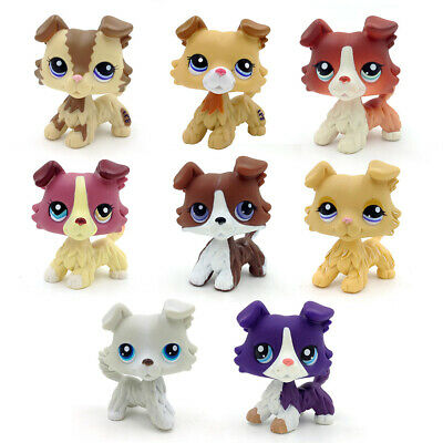 Littlest Pet Shop Lot 1 PCS Random Collie Dog Rare Kids Gift Toys Cute Puppy