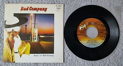 "Bad Company - Rock 'n' Roll Fantasy 7"" Single Spanish Copy Ex Condition"