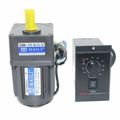 220V 15W AC Gear Motor 1:10 125RPM Electric Motor Variable Speed Controller New