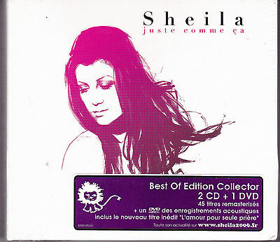 Double Cd Digipack 54T+ Dvd Sheila Juste Comme Ca Edition Collector Neuf Scelle