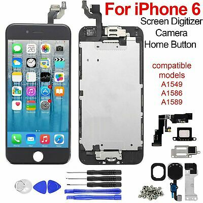 For iPhone 6 Screen Replacement LCD Touch Display Digitizer + home Button Black