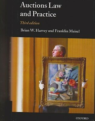 Auctions Law & Practice Brian W Harvey & Frank Meisel 3Rd Revised Edition 2006