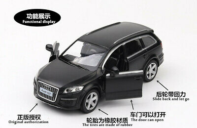 Model Cars Audi Q7 1:36 Toys Open two doors Collection/&Gifts Alloy Diecast Black