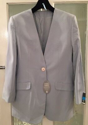 Vintage Gorgeous St Michael M&S Light Blue Pure Wool Jacket/Coat 14