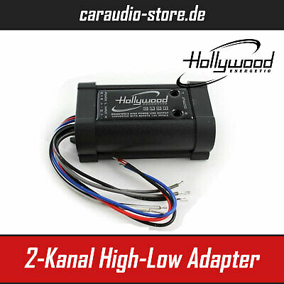 Hollywood HLC3 High-Low Adapter / Converter 2-Kanal mit Remote-Steuerung Hifi