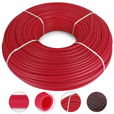 "1/2"" x 1000ft Pex Tubing Pex Pipe Oxygen Barrier O2 EVOH Red Radiant Floor Heat"