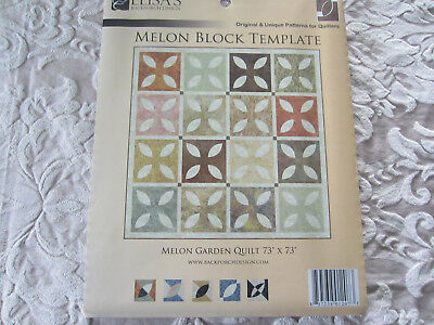 ELISA'S Melon Block Quilt 3-Piece Acrylic Template Set EBD1207 NEW Rotary