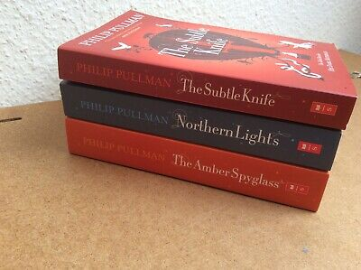 Philip Pullman His Dark Materials Trilogy Northern Lights Amber Spyglass Knife.