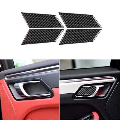 Real Carbon Fiber Door Bowl Handle Cover Trim Fit For Porsche Macan Cayenne