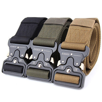Men Tactical Buckle Belt Military Nylon Belt Training Belt Strap