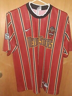 e28bcd8ed9a NIKE MLS METROSTARS JERSEY SOCCER FOOTBALL SIZE XL YOUTH USA pre-owned