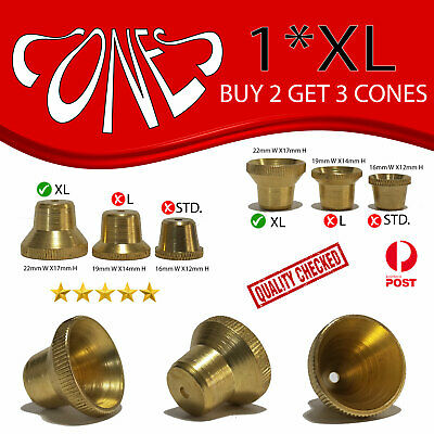 Extra Large Cone pieces Drops metal brass Large metal Cones smoking pipe stem