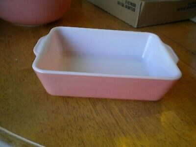 Hard To Find ROSEY PINK  PYREX Rectangle refrigerator dish  0503