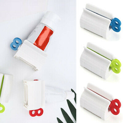 1Pcs Plastic Toothpaste Tube Squeezer Easy Dispenser Rolling Holder Bathroom New