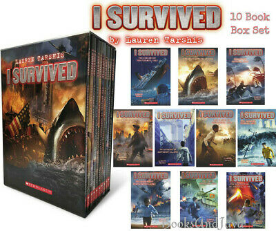 I Survived 1-10 American Revolution,Titanic,D-Day+by Lauren Tarshis (Box Set)