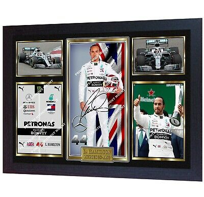 **** NEW F1 WORLD CHAMPION Lewis Hamilton signed autographed photo print FRAMED