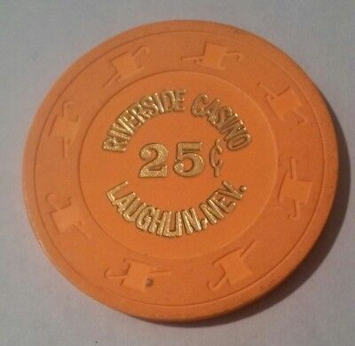 1982 Riverside Hotel Casino Laughlin, Nevada Hard To Find .25 Cent Gaming Chip!