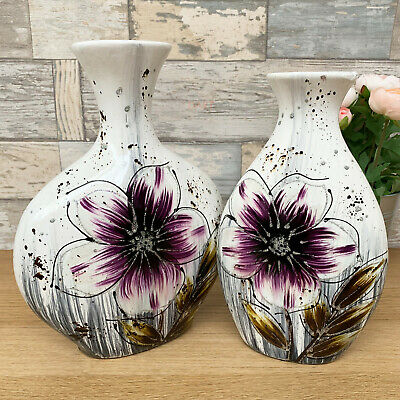 Purple Ceramic Modern Wedding Display Table Decorative Lily Flower Floral Vases