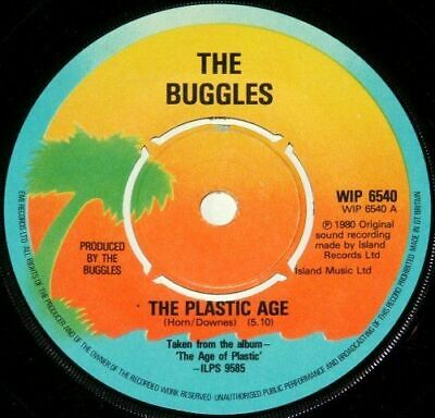 "THE BUGGLES - The Plastic Age / Island - UK 7"" 1980"