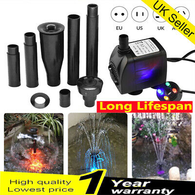 Submersible LED Light Water Pump Aquarium Feature Fish Tank Pond Fountain Garden