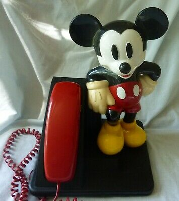Large AT&T Mickey Mouse Phone 15 inches tall 9 x12 base Working
