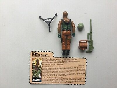 Hasbro 1984 GI Joe Roadblock Heavy Machine Gunner Complete ARAH File Card