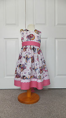 New Hand Crafted Charmer Girls Summer Sun Dress 4-5 Years Romany Traditional