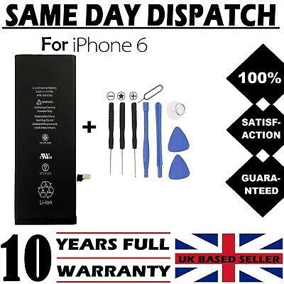 Genuine Replacement Battery for iPhone 6 6G 1810mAh 100% Full Capacity + Tools