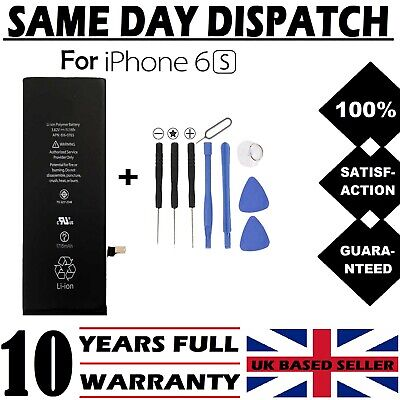 NEW Replacement Battery For iPhone 6s 1715 Mah + Tools FREE DELIVERY UK SELLER