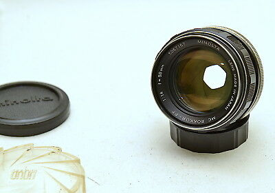 MINOLTA MC ROKKOR-PF 58MM F1.4 MD LENS with CPL FILTER