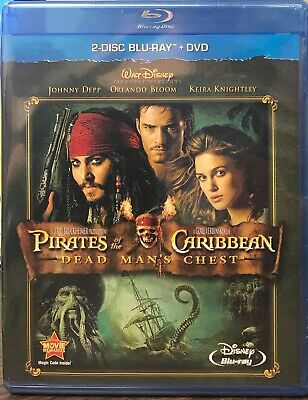 Pirates of the Caribbean: Dead Mans Chest (Blu-ray/DVD, 2011, 3-Disc) NEW SEALED