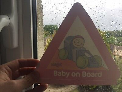 Autocollant Sticker BABY ON BOARD / Bébé à Bord - NEUF