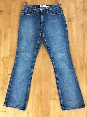 "Nice Pair Womens Old Navy Mid Rise Stone Wash Classic Boot Cut Jeans 8 Reg 31"" L"