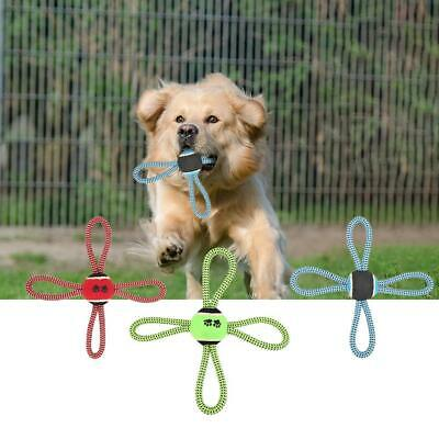 Pet Puppy Dog Cotton Rope Ball Outdoor Training Grinding Teeth Cleaning Toy H2