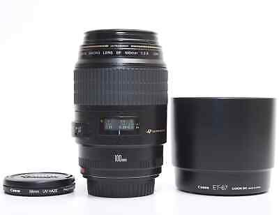 Canon Macro EF 100mm f/2.8 USM Lens. Excellent working condition.