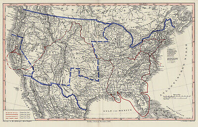 United States/North America 1899 - Justus Perthes Map (1857 Year Map)