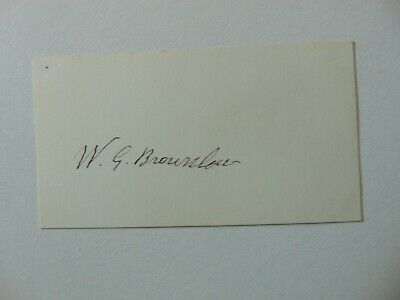 """Govr of Tennessee"" William Gannaway Brownlow Cut Signature JG Autographs COA"